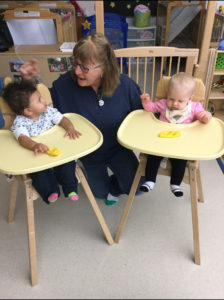 Infants Eating in Child Care Center