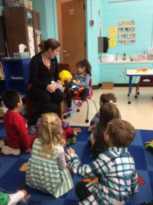 Show and Tell 3 year old classroom